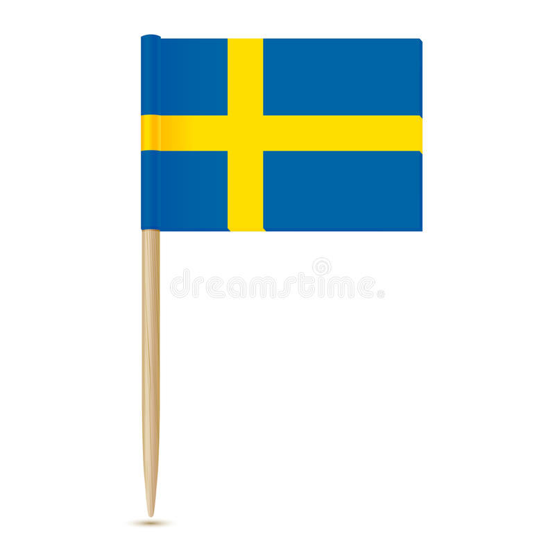 Indicador de Suecia Palillo sueco 10eps de la bandera stock de ilustración