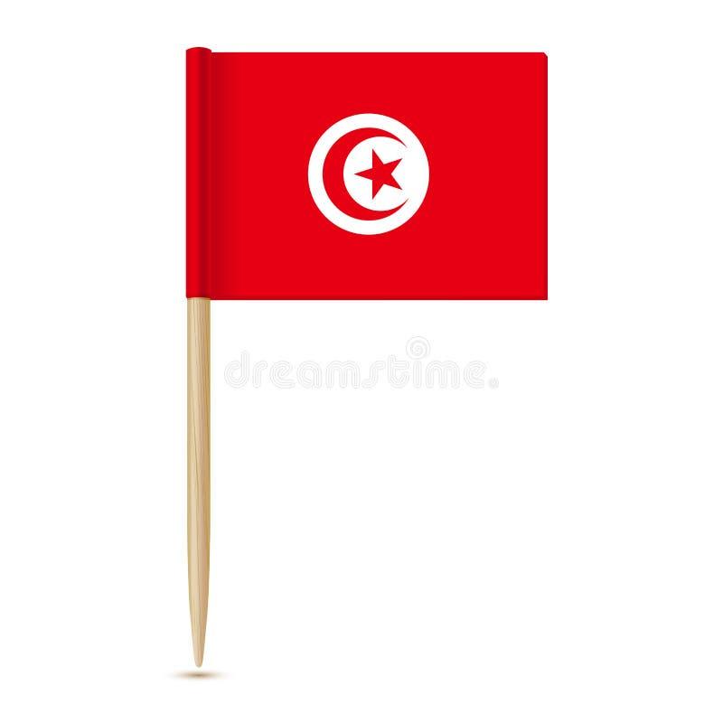 Indicador de Túnez Palillo 10eps de la bandera ilustración del vector