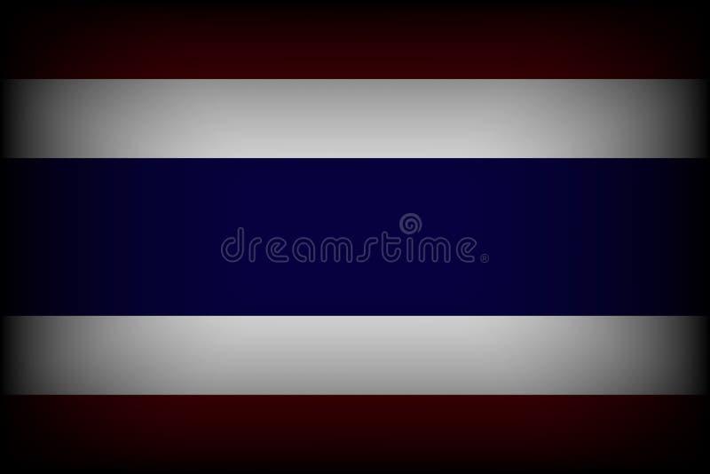 Indicador de Tailandia el luto para el rey de Tailandia desaparece Resto en paz stock de ilustración