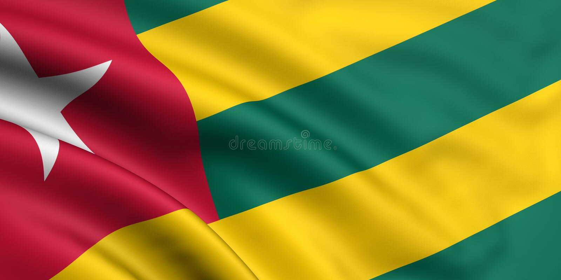 Indicador de Togo ilustración del vector