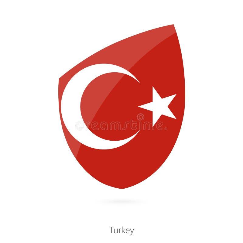 Indicador de Turquía Bandera turca del rugbi stock de ilustración