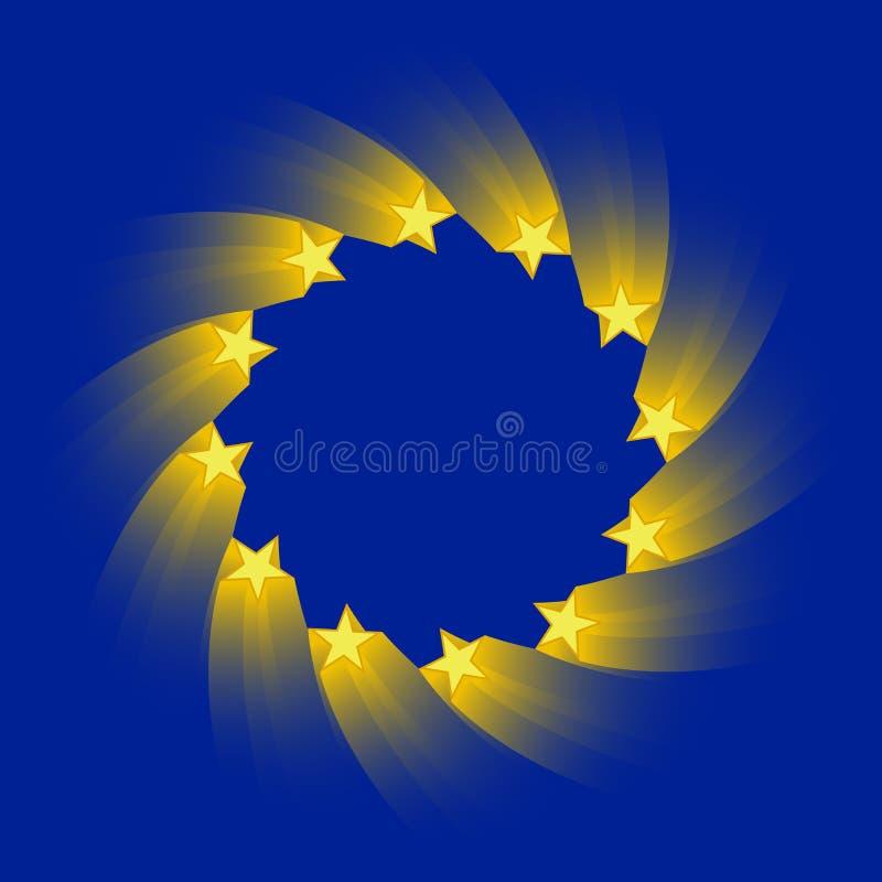 Indicador de unión europea ilustración del vector