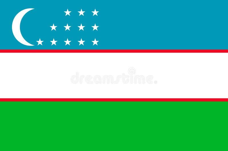 Indicador de Uzbekistan ilustración del vector