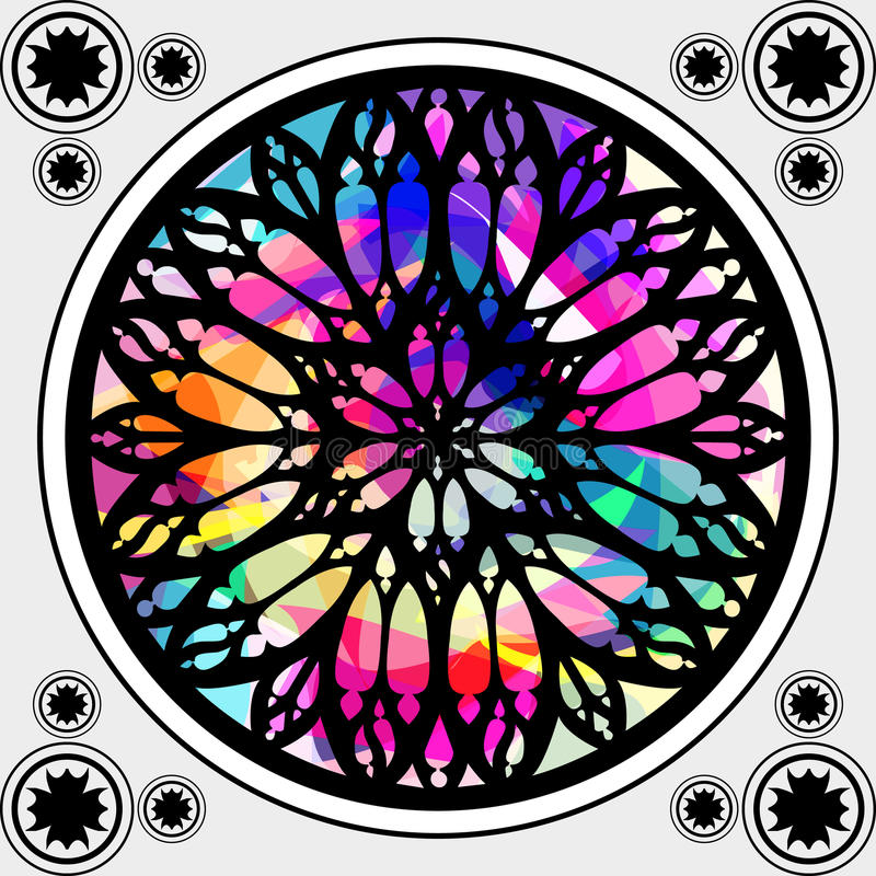 Indicador de vidro colorido gótico ilustração royalty free