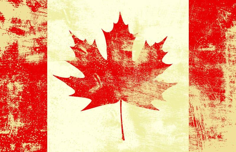 Indicador del canadiense de Grunge stock de ilustración