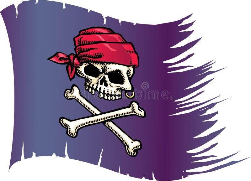 Indicador del cráneo stock de ilustración