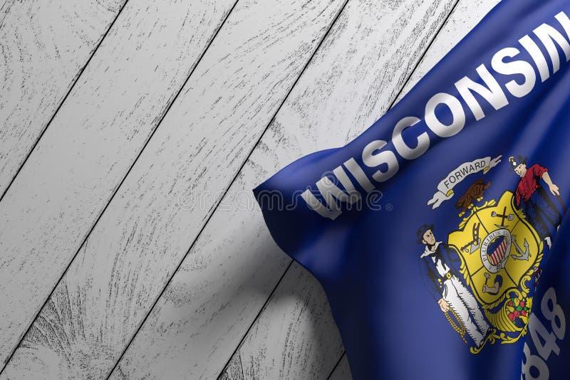 Indicador del estado de Wisconsin stock de ilustración