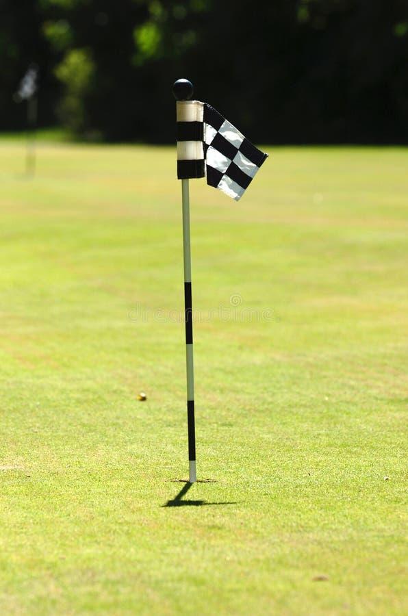 Indicador del golf en corte imagenes de archivo