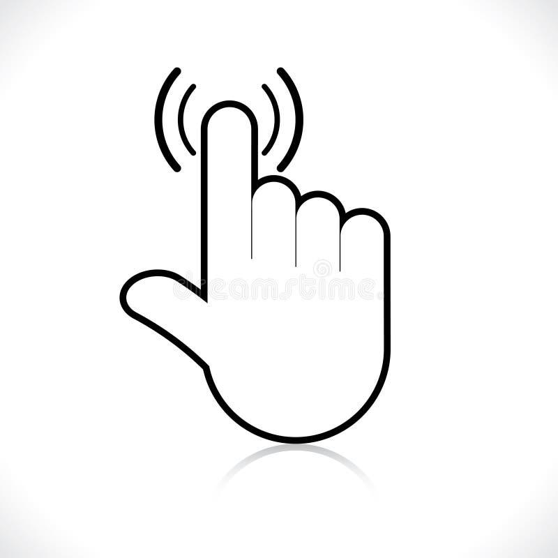 Indicador del icono de la mano stock de ilustración