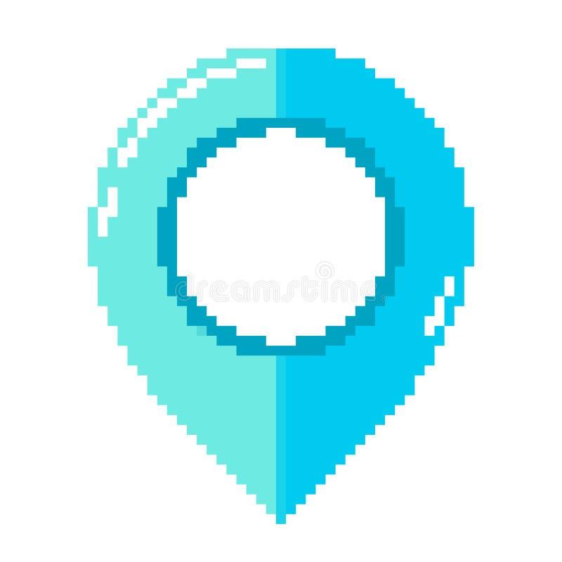 Indicador del mapa en diseño del arte del pixel Ilustraci?n del vector stock de ilustración