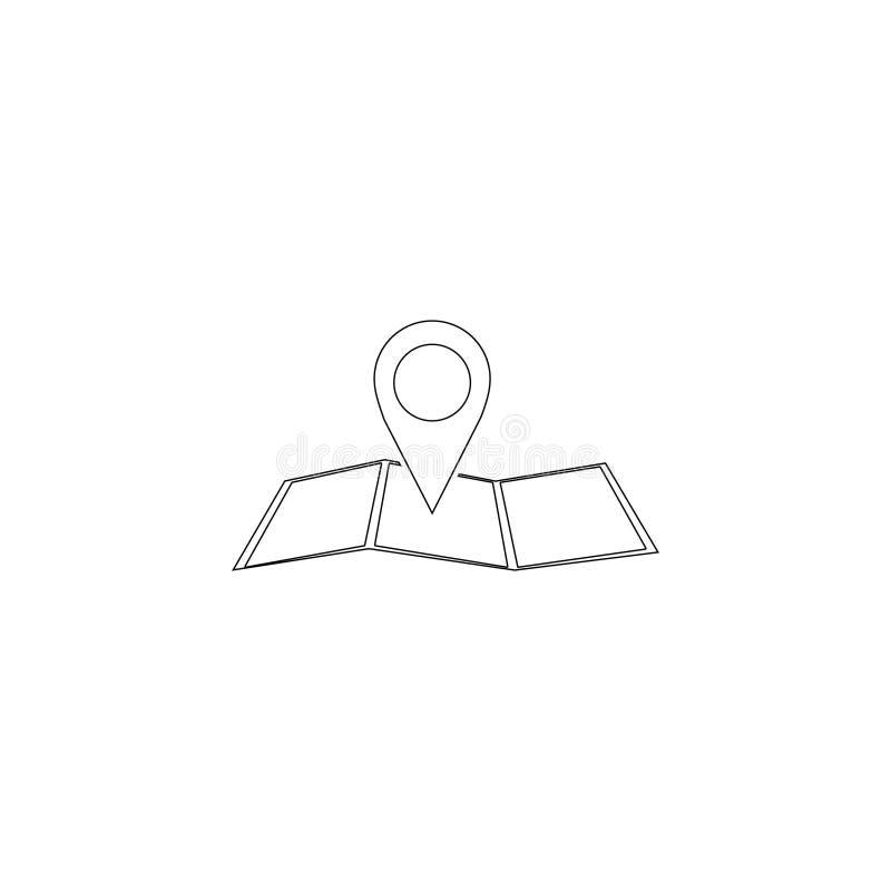 Indicador del mapa Icono plano del vector stock de ilustración