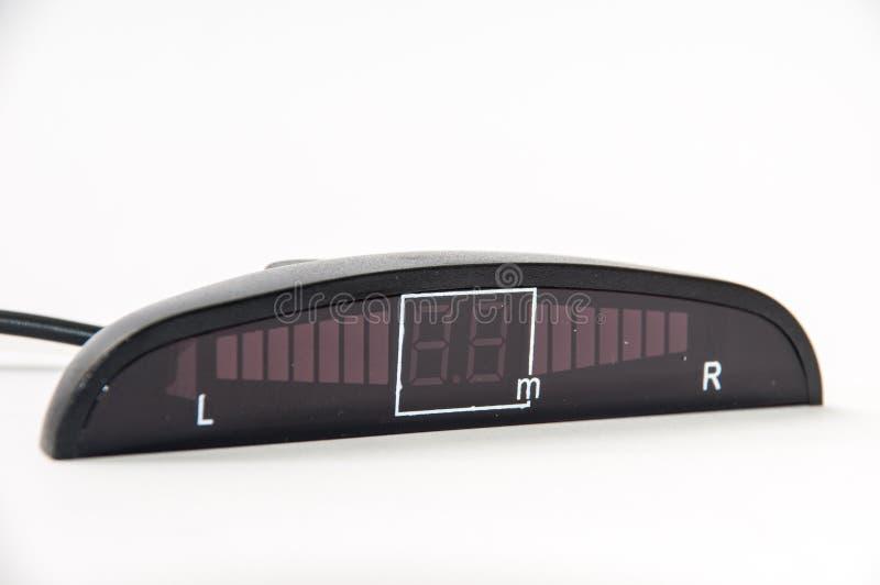 Indicador digital de los sensores del estacionamiento foto de archivo libre de regalías
