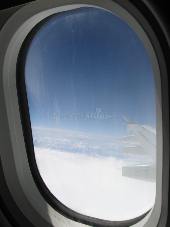 Janela do avião imagem de stock royalty free