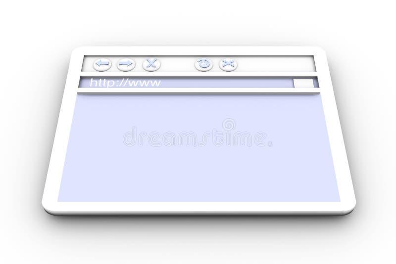 Indicador do navegador ilustração royalty free