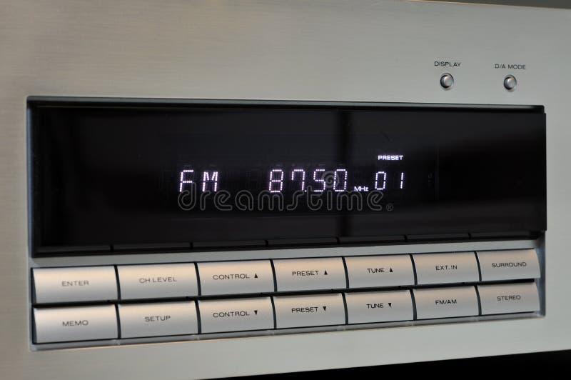 Indicador do rádio de FM imagens de stock