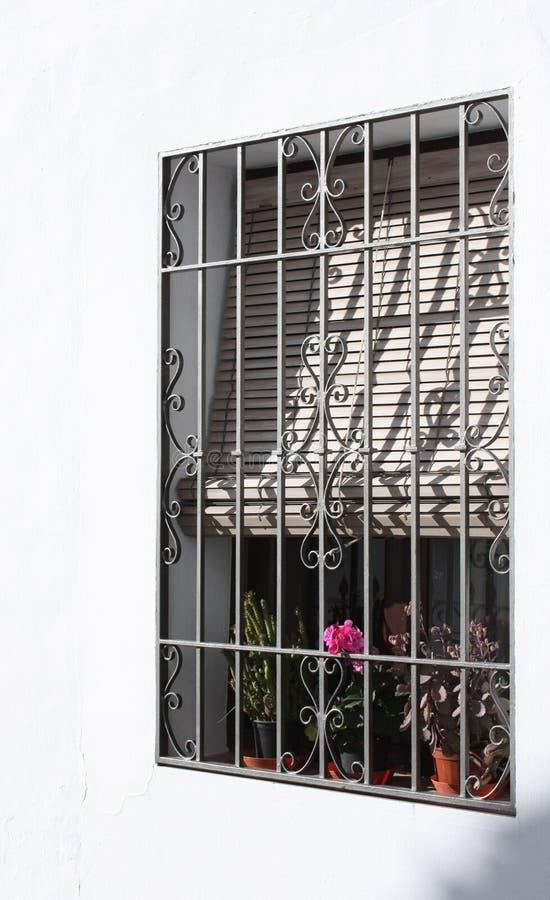 Indicador e cortinas barrados (Spain) imagem de stock