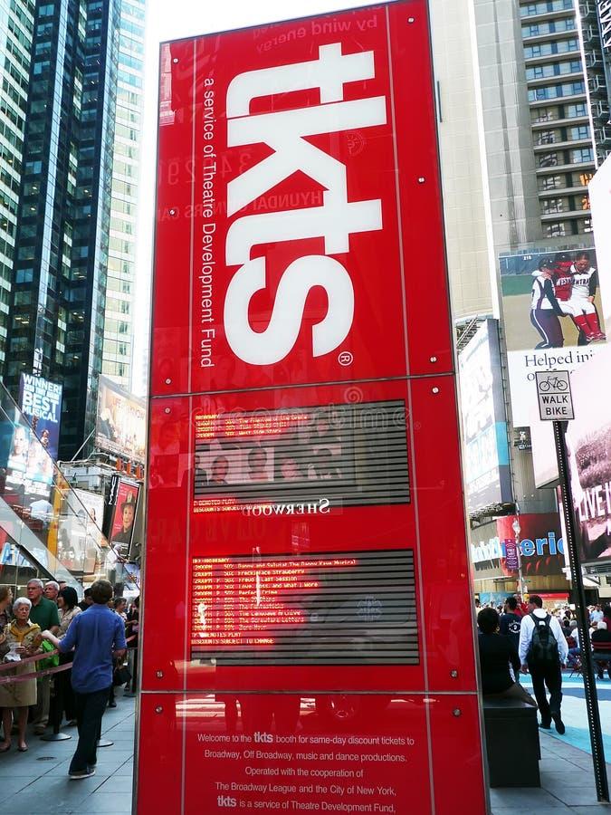 Indicador eletrônico do disconto de TKTS. foto de stock royalty free