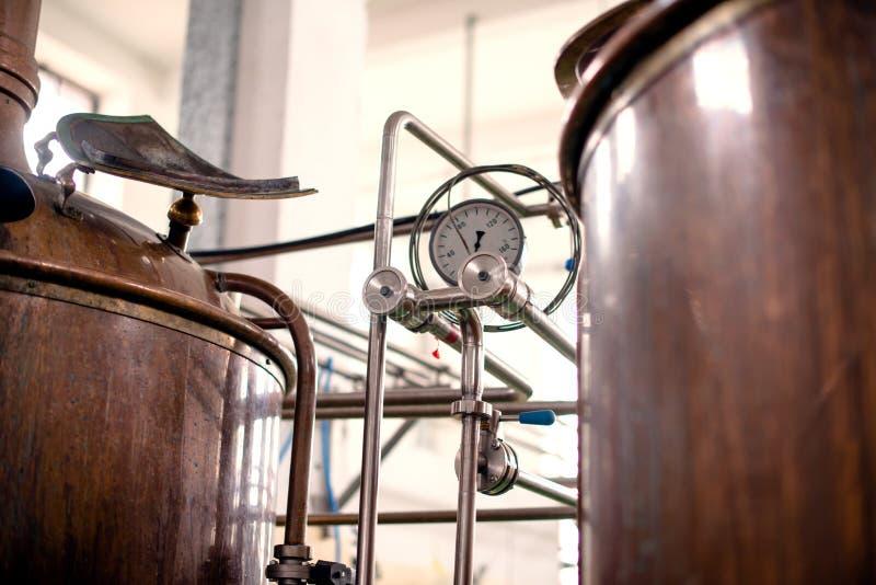 Indicador en la cuba de Coppler Distillary imagen de archivo libre de regalías