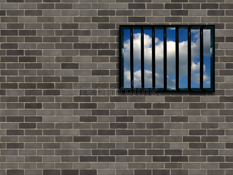Indicador entrelaçado da prisão ilustração do vetor