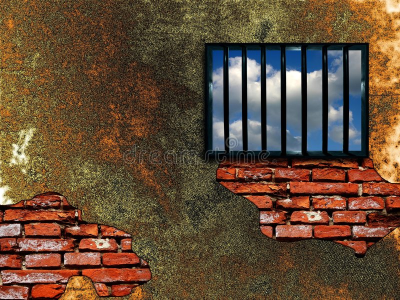Indicador entrelaçado da prisão ilustração stock