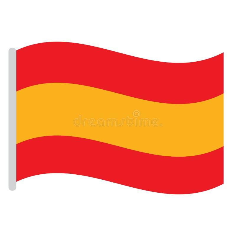 Indicador español aislado ilustración del vector