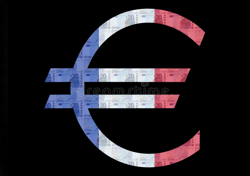 Indicador euro francés stock de ilustración