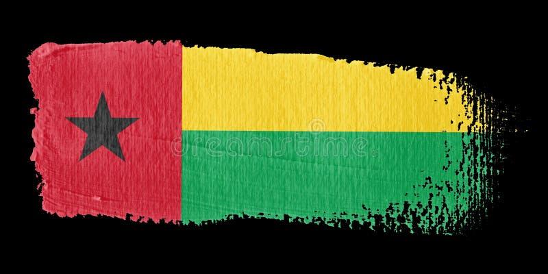 Indicador Guinea-Bissau de la pincelada ilustración del vector