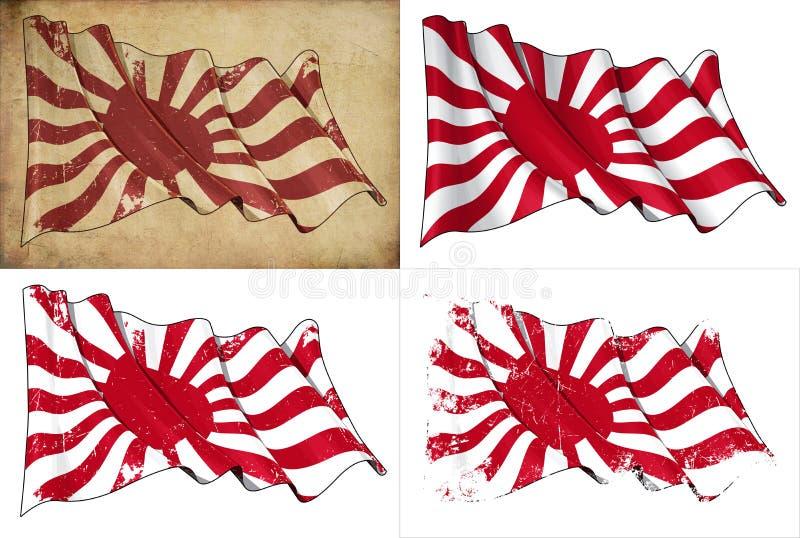 Indicador histórico de la marina imperial de Japón ilustración del vector