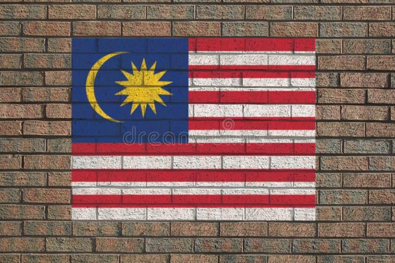 Indicador malasio en la pared ilustración del vector