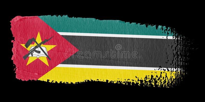 Indicador Mozambique De La Pincelada Imagen de archivo libre de regalías