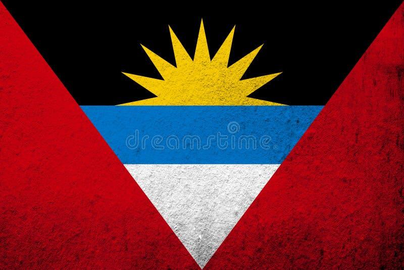 Indicador nacional de Antigua y de Barbuda Fondo del Grunge libre illustration