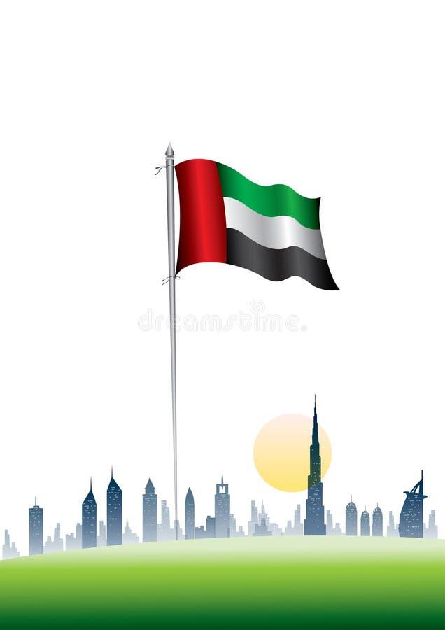 Indicador nacional de los UAE libre illustration