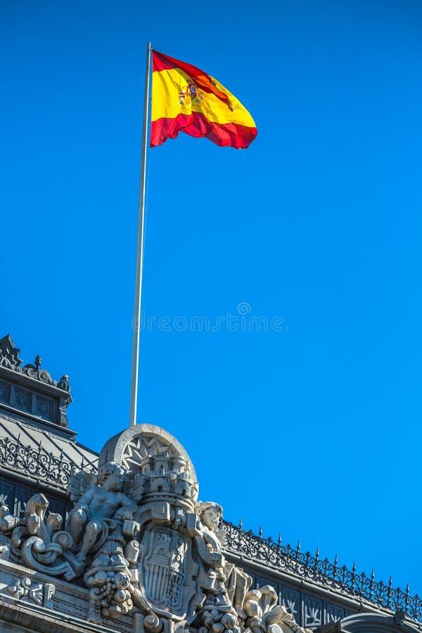 Indicador nacional español en Madrid, España fotos de archivo libres de regalías