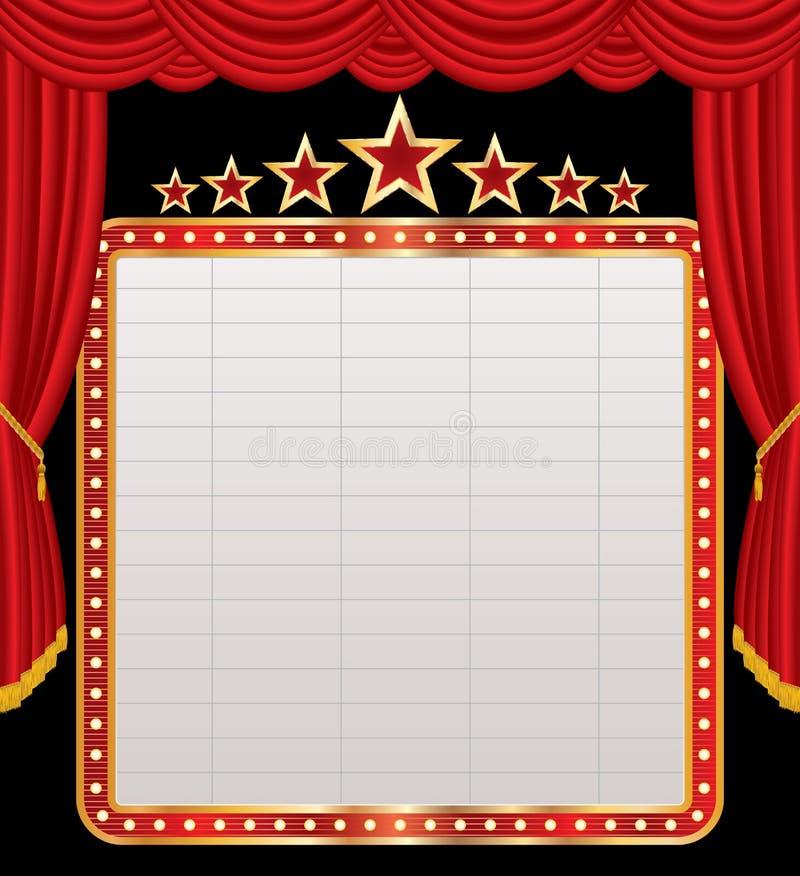 Indicador no estágio vermelho ilustração royalty free