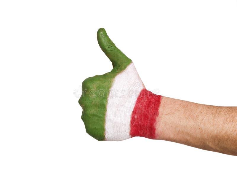 Indicador pintado a mano de Italia que expresa positividad imágenes de archivo libres de regalías