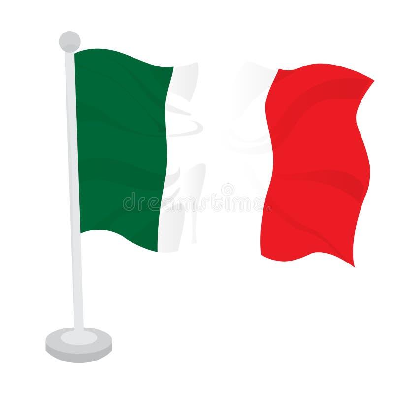 Indicador que agita de Italia ilustración del vector