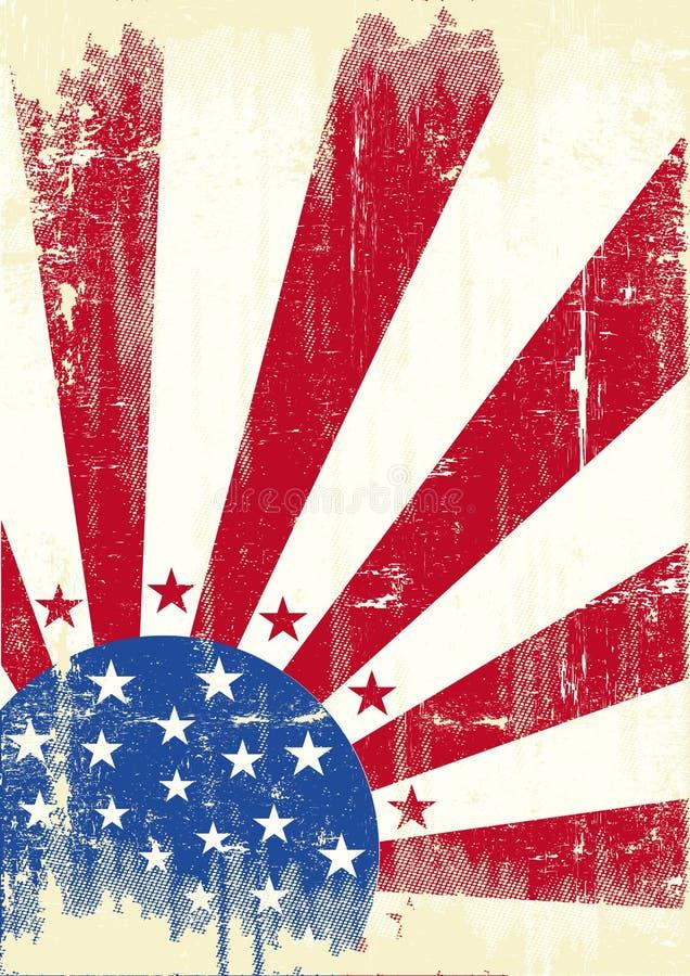 Indicador rasguñado americano ilustración del vector
