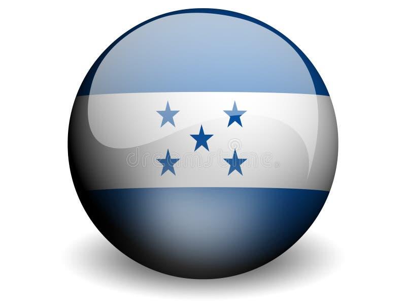 Indicador redondo de Honduras stock de ilustración