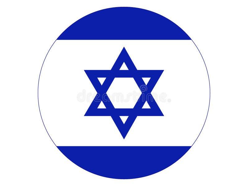 Indicador redondo de Israel stock de ilustración