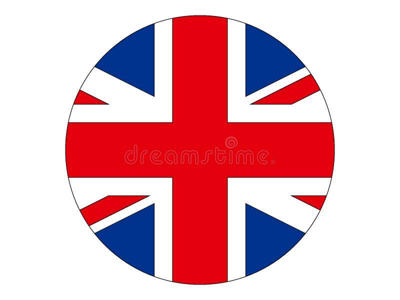 Indicador redondo de Reino Unido ilustración del vector