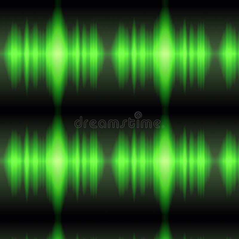 Indicador verde do osciloscópio ilustração do vetor