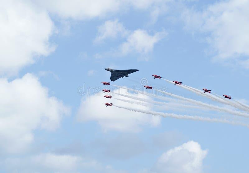 Indicador vermelho das setas de Royal Air Force imagem de stock
