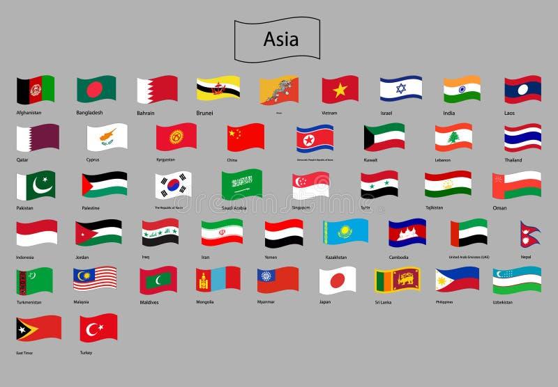Indicadores de Asia stock de ilustración