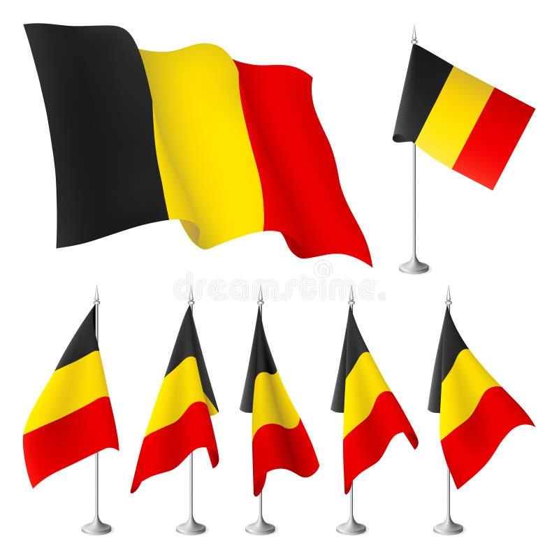 Indicadores de Bélgica stock de ilustración