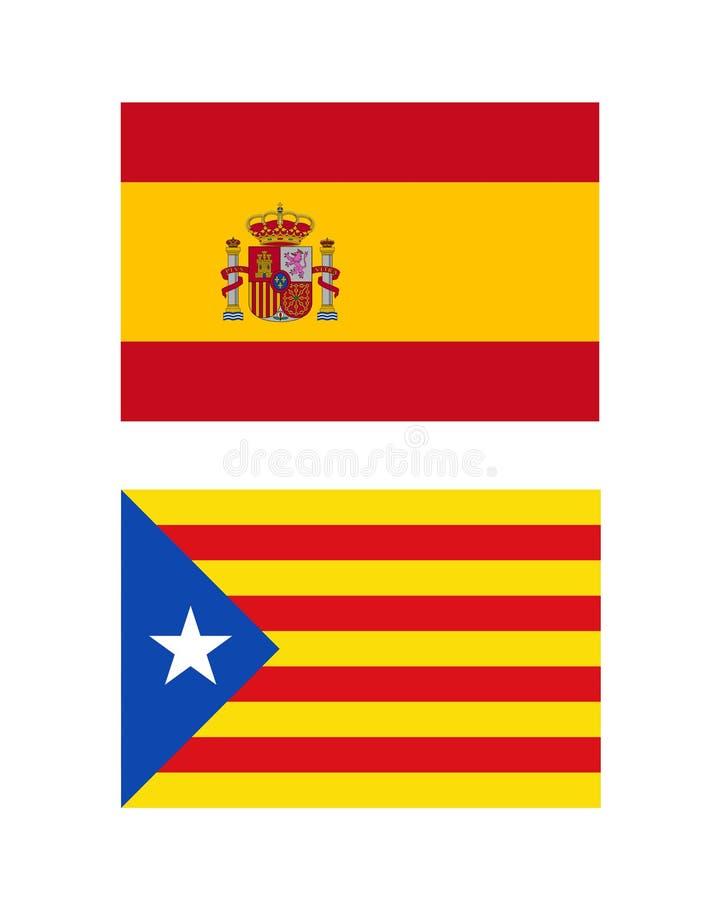 Indicadores de España y de Cataluña ilustración del vector