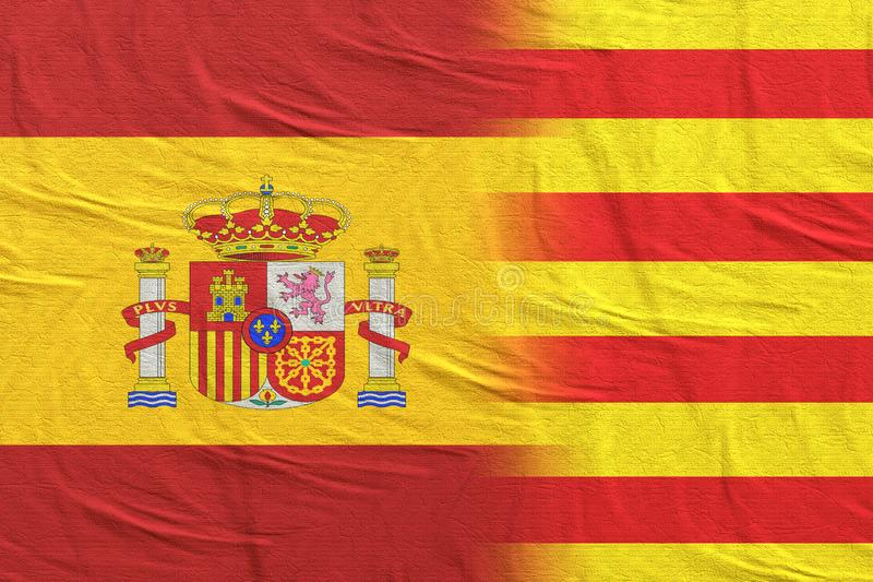 Indicadores de Espa?a y de Catalu?a stock de ilustración