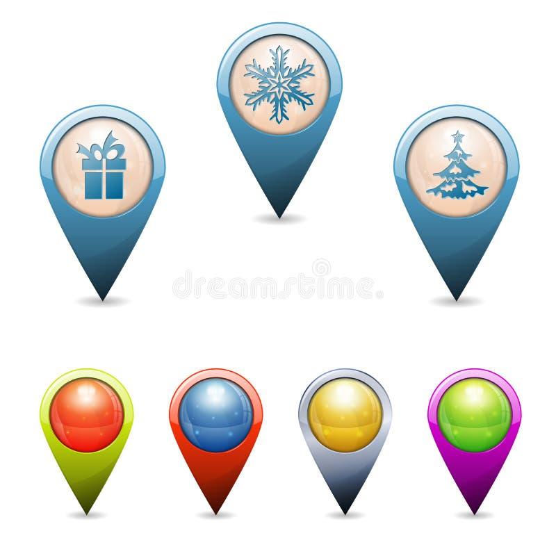 Indicadores de la Navidad stock de ilustración