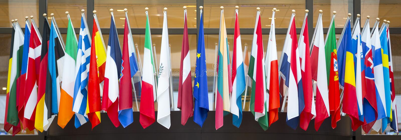 Indicadores de la unión europea imágenes de archivo libres de regalías