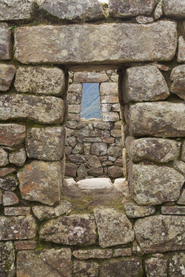 Indicadores de Machu Picchu fotos de stock royalty free
