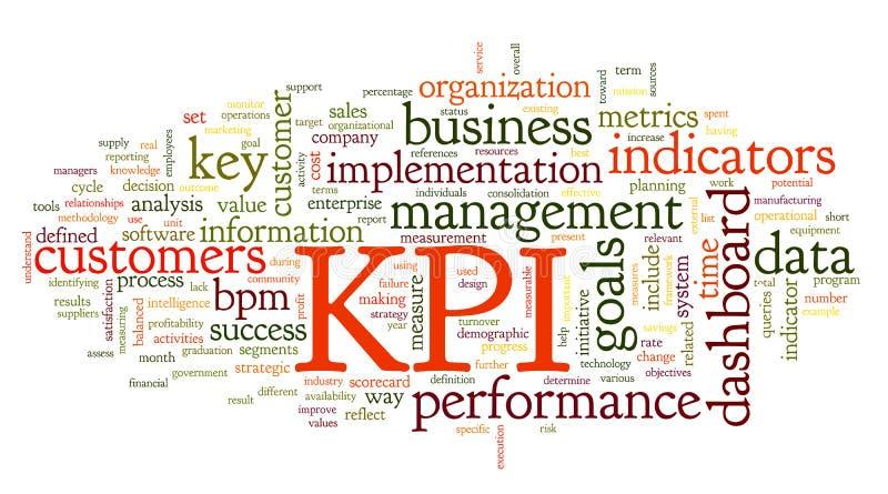 Indicadores de rendimiento clave de KPI stock de ilustración
